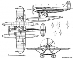 supermarine s 6b model airplane plan
