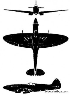 supermarine spitfire model airplane plan