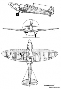 supermarine spitfire mk ia model airplane plan