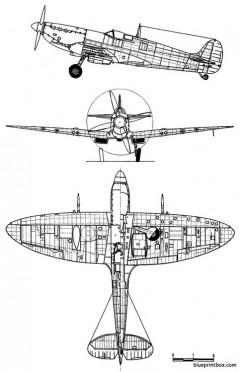 supermarine spitfire mk ixc model airplane plan