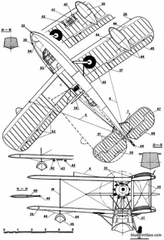 supermarine walrus 02 model airplane plan