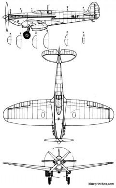 supermarinehigh speed spitfire model airplane plan