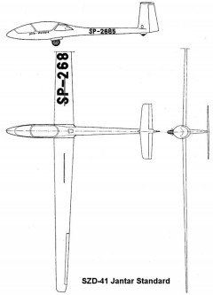 szd41 3v model airplane plan
