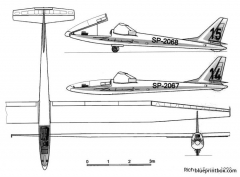 szd 19 zefir 2a model airplane plan