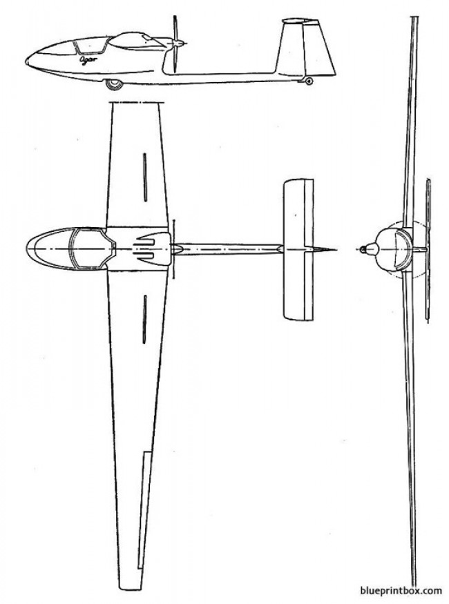 szd 45 ogar model airplane plan
