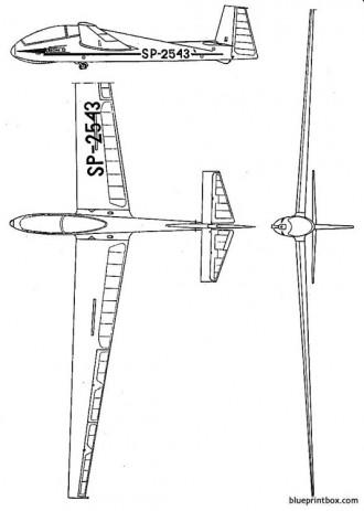 szd 9bis bocian model airplane plan