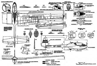 szd m3 pliszka model airplane plan