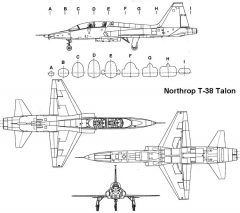 t38 3v model airplane plan