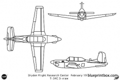 t 34c model airplane plan