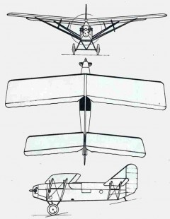 taupin 3v model airplane plan