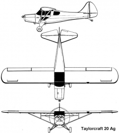 taylorcraft20 3v model airplane plan