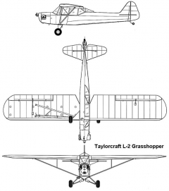taylorcraft L2 3v model airplane plan