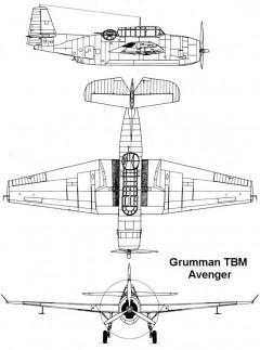 tbm 1 3v model airplane plan