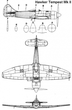 tempest2 1 3v model airplane plan