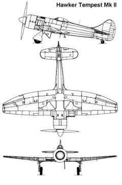 tempest2 2 3v model airplane plan