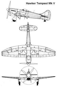 tempest5 1 3v model airplane plan