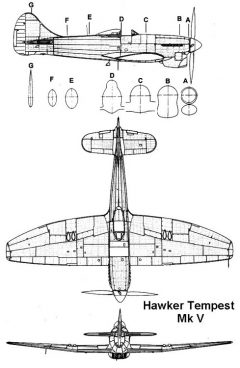 tempest5 2 3v model airplane plan