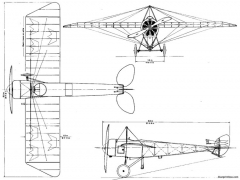 thulin k model airplane plan