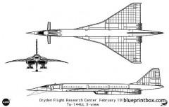 tu 144 model airplane plan