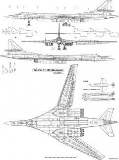 tu 160 aiv model airplane plan