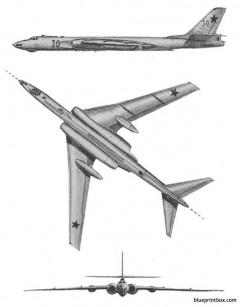 tu 16 badger 2 model airplane plan