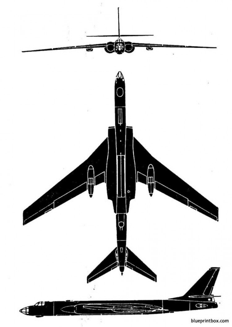 tu 16 badger 3 model airplane plan