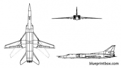 tu 26 backfire model airplane plan
