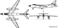 tupolev 82  tu 22 1949 russia model airplane plan