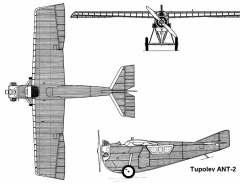 tupolev ant2 3v model airplane plan