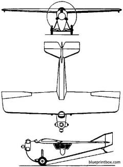 tupolev ant 2 1924 russia model airplane plan