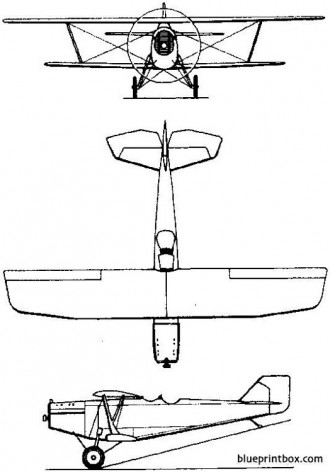 tupolev ant 3  r 3 1925 russia model airplane plan