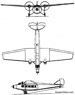 tupolev ant 9  ps 9 1929 russia model airplane plan