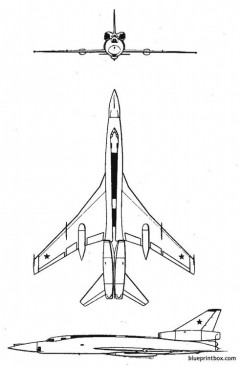 tupolev blinder model airplane plan