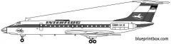 tupolev tu134 model airplane plan
