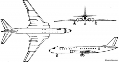 tupolev tu 110 1957 russia model airplane plan