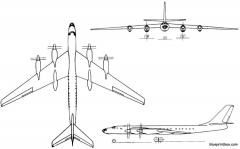 tupolev tu 116 1958 russia model airplane plan