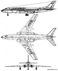 tupolev tu 124 model airplane plan