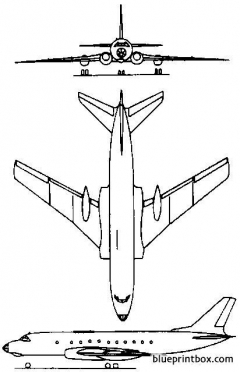tupolev tu 124 1960 russia model airplane plan