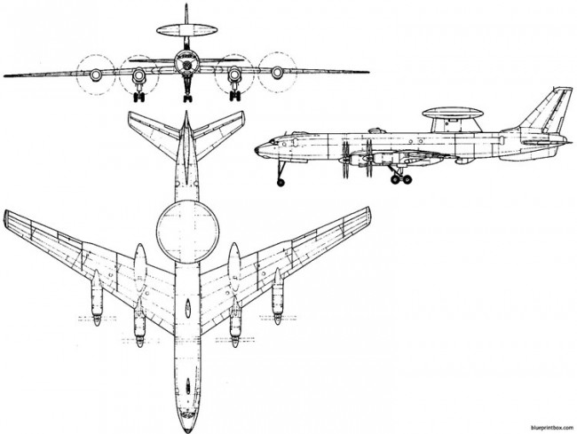 tupolev tu 126 1962 russia model airplane plan