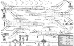 tupolev tu 128 model airplane plan