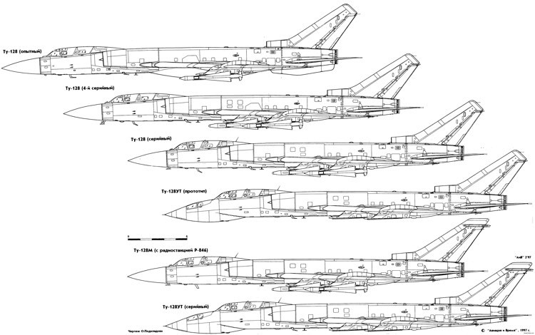 tupolev tu 128 2 model airplane plan