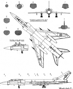 tupolev tu 128 3 model airplane plan
