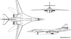 tupolev tu 160 1981 russia model airplane plan