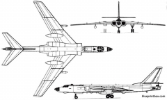 tupolev tu 16 1951 russia model airplane plan