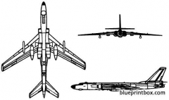 tupolev tu 16 badger model airplane plan