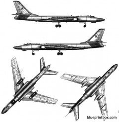 tupolev tu 16k 10 badger c model airplane plan