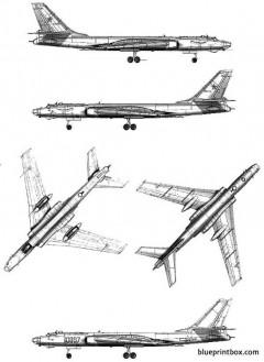 tupolev tu 16k 26 badger model airplane plan