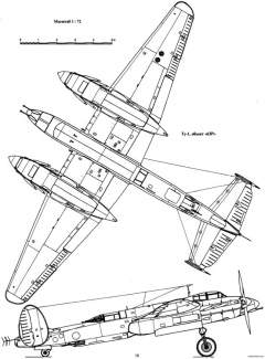 tupolev tu 1 2 model airplane plan