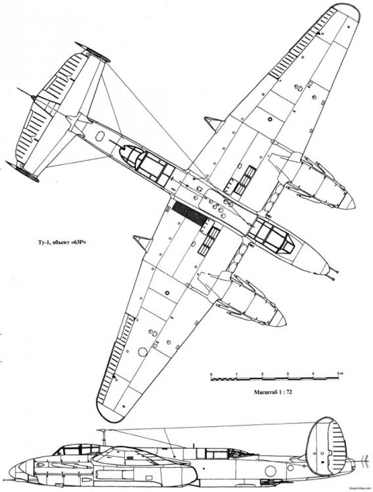 tupolev tu 1 3 model airplane plan