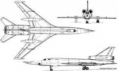 tupolev tu 22 1958 russia model airplane plan